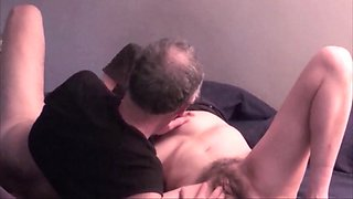 Married hairy mature couple make out, 69 and fuck