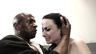 Veruca James is a sex slave in a cage craving a black boner