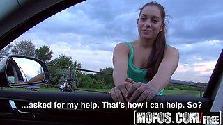 mofos - stranded teens - jenny dark - driving blowjob amateu