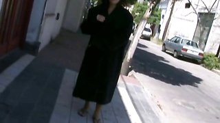 Hairy mexican girlfriend naked on street
