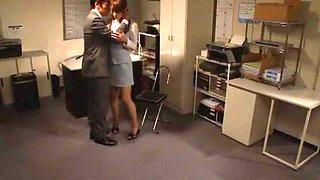 Fabulous Japanese model Shiori Inamori in Crazy Office JAV scene
