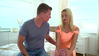 Czech blonde Victoria Pure gets banged by severs kinky dudes