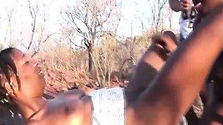 outdoor african safari orgy