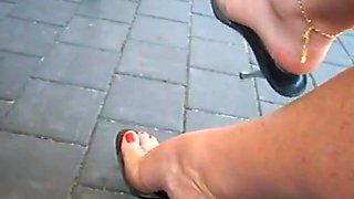 High heel dangle by Ellise Brown