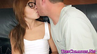 teen in glasses creampied porn