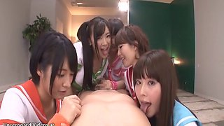 japanese thirsty schoolgirls fuck their teacher