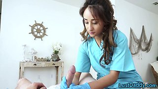 Pov stepteen nurse gives handjob