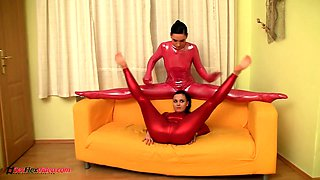 real flexible lesbian spandex sisters