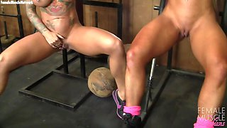 Dani Andrews and Megan Avalon In The Gym Can't Stop Touching