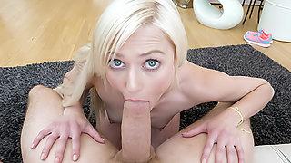 Small Blonde Handjob