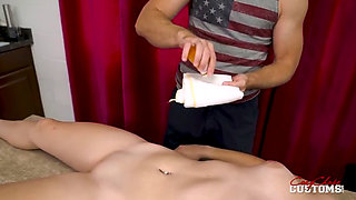 Daisy Falls Asleep and Stepdad Helps Himself to Her Pussy