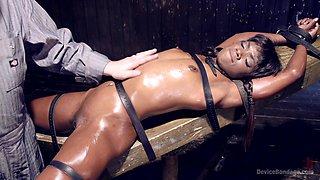 Whiped And Fingered Ebony Babe
