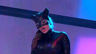 Catwoman and her girlfriend loves to experiment with a crane and a lot of fun