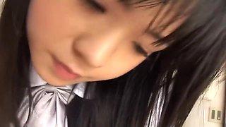 Japanese schoolgirl Sayaka Aida with two guys