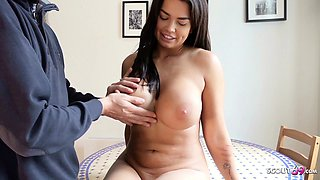 GERMAN SCOUT - MEGA TIT TEEN CHLOE TALK TO ANAL AT CASTING