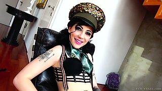 Kinky tattooed hooker Charlotte Sartre is fucked by one pervert