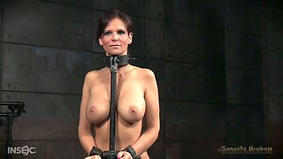 Horny bondage masters literally fuck Syren De Mer in the face