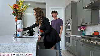 Jaw dropping single woman Emily Addison seduces young plumber