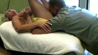Cute Mature Secretary and her Boss while Hubby having Rest