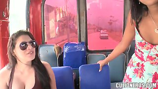 We met this Latina college chick Susan in the public transport