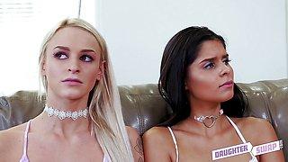 Daddy dick loving girls Emma Hix and Katya Rodriguez