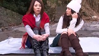 Hottest Japanese slut in Amazing Fingering, Outdoor JAV clip