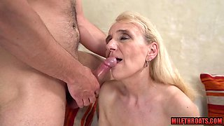 Natural tits mature extreme sex with facial