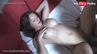 MyDirtyHobby - Busty babe gets cum all over her gorgeous body