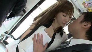 Hottest Japanese model Chie Maeda in Fabulous Small Tits, Bus JAV movie