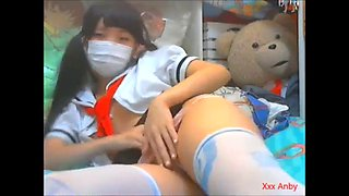 Cute asian schoolgirl webcam