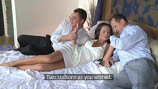 Crazy pornstars George, Linette, Martin Q in Incredible Big Tits, Brunette adult video