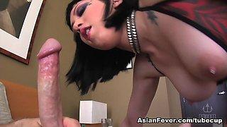 Exotic pornstar Asphyxia Noir in Amazing Blowjob, Emo porn video