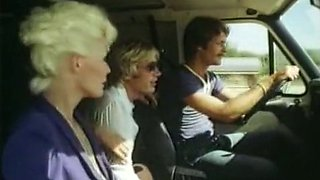 Hot pale skin playful blondie blows dick in the car