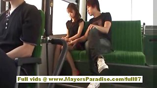 Mihiro asian model enjoys a fucking on the bus
