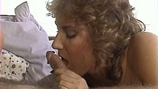 Two vintage milfs sharing one retro stud with mustache