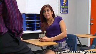InnocentHigh Sexy latina schoolgirl teen classroom sex