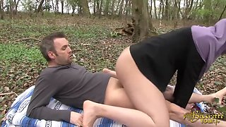arab babe sarah does anal in a forest