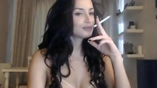 Gorgeous Brunette smoking Clip 3