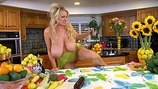 Kelly Madison is a housewife who loves masturbating with vegetables