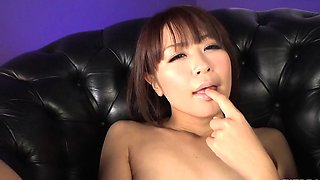 Maika sucks cock then swallows sperm big time