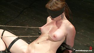 Marie McCray in Red Hair Fair Skin - finger fucked, machine fucked, extreme nipple play, hot wax, hard caning - DeviceBondage