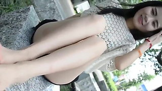 Chinese girl with perfect feet