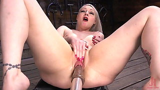 Squirting from Machine Dildos