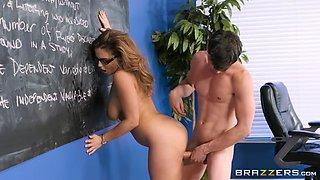 natasha nice getting fucked leaning on the blackboard