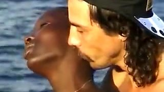 Hot African Teen Banged By Two White Pricks