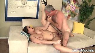 Jeffs Models - Big Jugs BBW Takes Cock Compilation