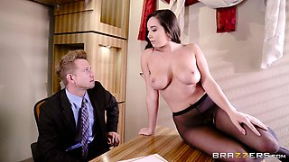 Karlee Grey is a curvy girl with a hairy cunt in need of a drill