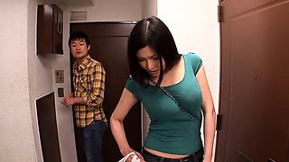 Big breasted Japanese wife gets fucked hard and facialized