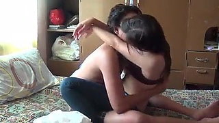 Filipina girl fucks her bf at home