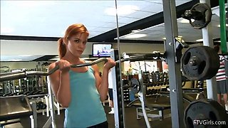 redhead teen gives you a boner with a day of exercise